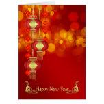 Nouvelle année chinoise - année du serpent avec cartes
