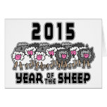 Nouvelle année chinoise des moutons 2015 cartes