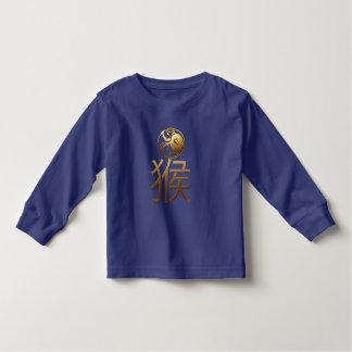 Nouvelle année chinoise du bleu du singe 2016 t-shirt pour les tous petits