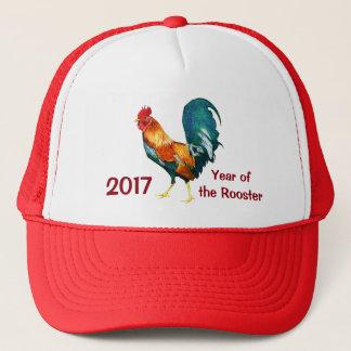 Nouvelle année chinoise du casquette 2017 de coq