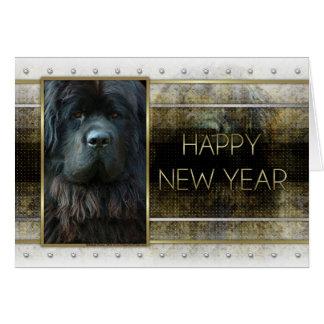Nouvelle année - élégance d'or - Terre-Neuve Cartes De Vœux