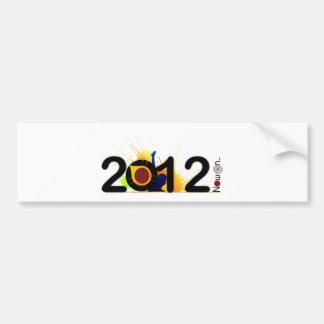 Nouvelle année maintenant le 2012. autocollant pour voiture