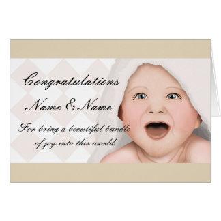 Nouvelle carte de bébé de félicitations