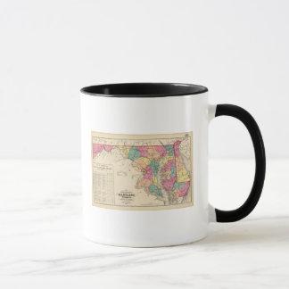 Nouvelle carte de chemin de fer des états du mug