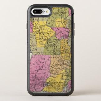 Nouvelle carte de la Louisiane 3 Coque Otterbox Symmetry Pour iPhone 7 Plus