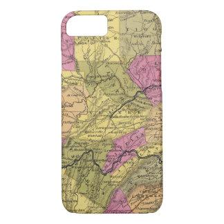 Nouvelle carte de la Pennsylvanie 2 Coque iPhone 8/7