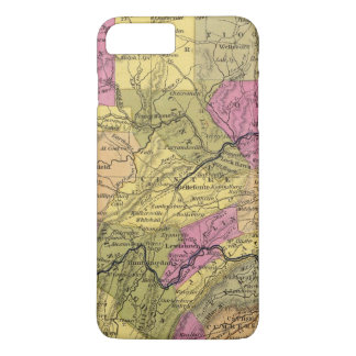Nouvelle carte de la Pennsylvanie 2 Coque iPhone 8 Plus/7 Plus