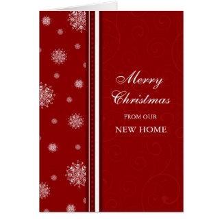 Nouvelle carte de Noël d'adresse de neige blanche