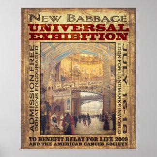 Nouvelle exposition d'universel de Babbage Affiches