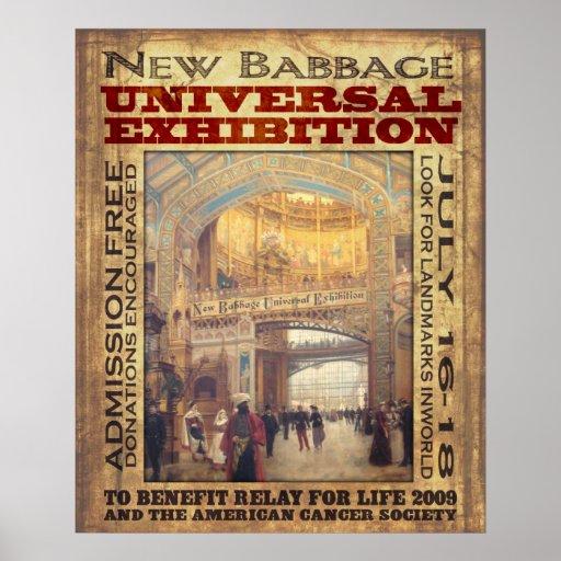 Nouvelle exposition d'universel de Babbage Posters