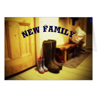 Nouvelle famille, carte de voeux