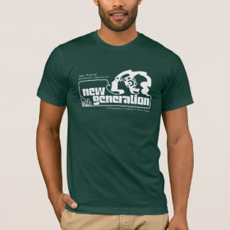 Nouvelle génération sur le vert t-shirt