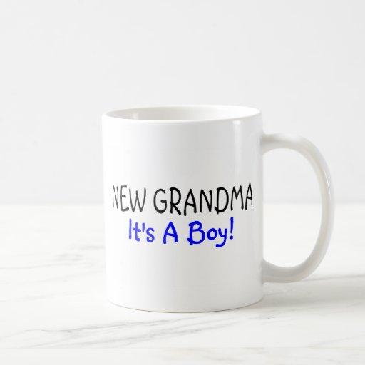 Nouvelle grand-maman sa un garçon mug