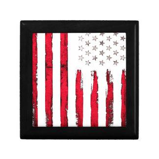 Nouvelle grunge rouge de drapeau américain boîte à souvenirs