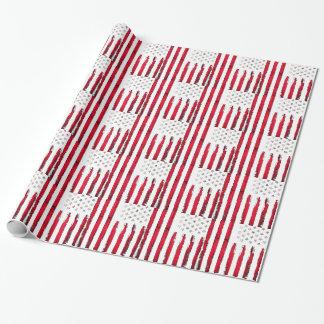 Nouvelle grunge rouge de drapeau américain papier cadeau