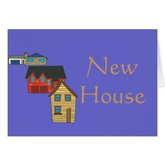 Nouvelle maison chauffant > carte de voeux