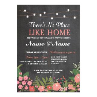 Nouvelle maison chauffant l'invitation doux de carton d'invitation  12,7 cm x 17,78 cm