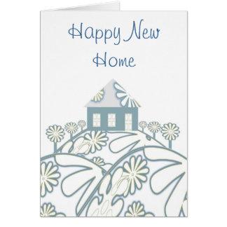 Nouvelle maison heureuse carte de vœux