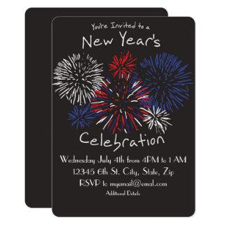 Nouvelles années de célébration carton d'invitation  12,7 cm x 17,78 cm