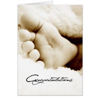 Nouvelles félicitations de bébé carte de vœux