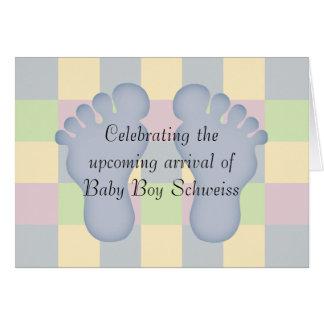 Nouvelles félicitations de bébé cartes de vœux