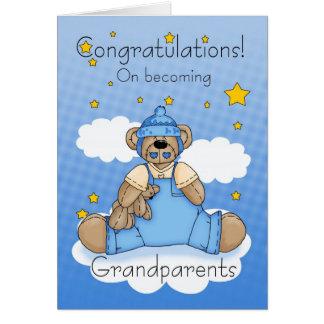 Nouvelles félicitations de bébé de grands-parents carte de vœux