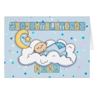 Nouvelles félicitations de bébé de Nana Carte De Vœux