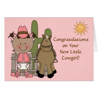 Nouvelles félicitations de bébé et de poney - carte de vœux