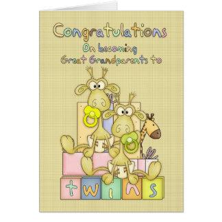 Nouvelles félicitations de bébé pour carte de vœux