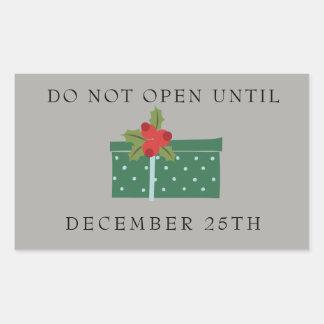 N'ouvrez pas jusqu'au 25 décembre les étiquettes