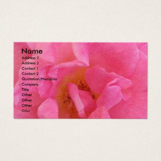 NOVINO - Pétale rose sensuel 3 Cartes De Visite