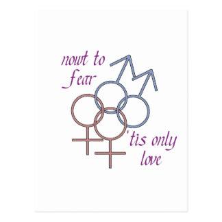 Nowt à la crainte, des 'tis aiment seulement ! carte postale