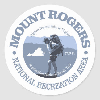 NRA de Mt Rogers Sticker Rond