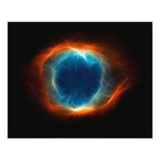 Nuage de l'espace d'étoile de nébuleuse d'hélice prospectus 11,4 cm x 14,2 cm