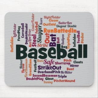 Nuage de mot de base-ball tapis de souris