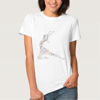 Nuage de mot de danse t-shirts