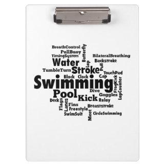 Nuage de mot de natation