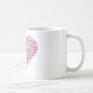 Nuage de mot de tricot mug