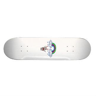 Nuage de pluie de lapin d'amour skateboards customisés
