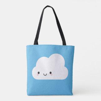 Nuage de pluie triste et nuage heureux de Kawaii Sac