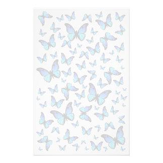 nuage des papillons bleus papier à lettre customisé