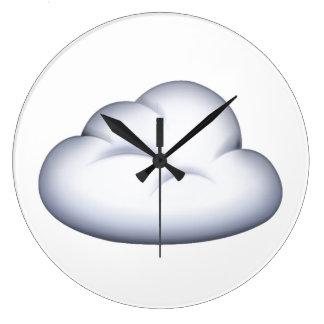 Nuage - Emoji Grande Horloge Ronde