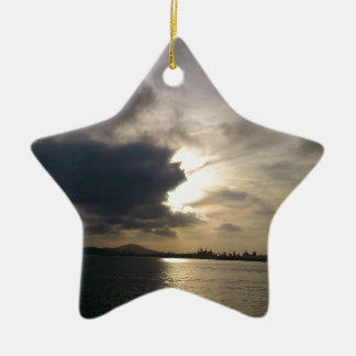 Nuage léger ornement étoile en céramique