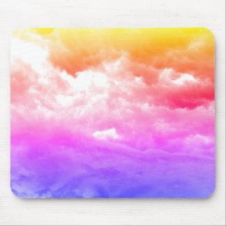 Nuage multicolore lumineux tapis de souris