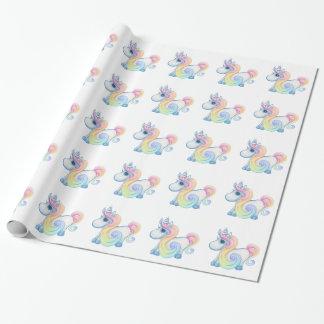 Nuage unique de pastel de licorne papiers cadeaux