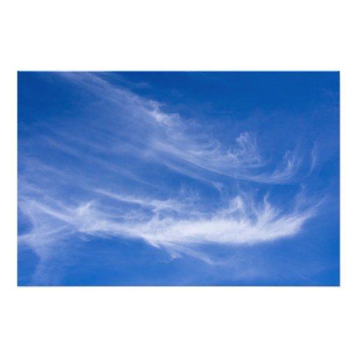 Nuages blancs avec le ciel bleu photo d'art