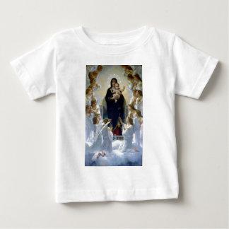 Nuages chrétiens de religion de bébé de madona t-shirt