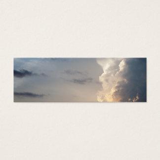 Nuages de tempête de ciel de ciel de nuage de mini carte de visite