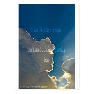 nuages - début carte postale
