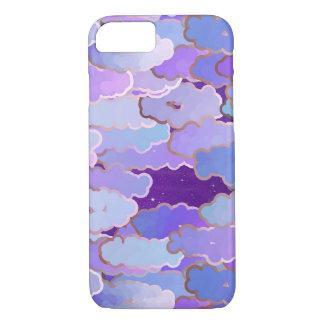 Nuages japonais, crépuscule, violette et Deep Coque iPhone 7